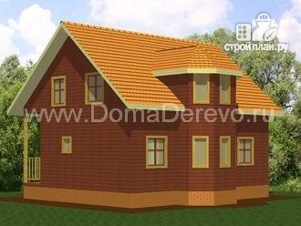 Фото 2: проект дом из бруса 10 на 8.5, с террасой