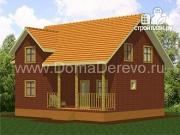 Фото: дом из бруса 10 на 8.5, с террасой
