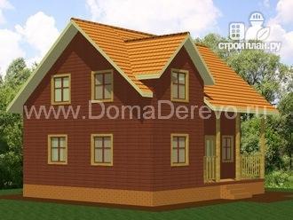 Фото 4: проект дом из бруса 10 на 8.5, с террасой