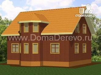 Фото 3: проект дом из бруса 10 на 8.5, с террасой