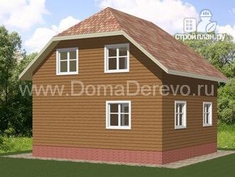 Фото 3: проект дом из бруса 7.5 на 7.5, с балконом