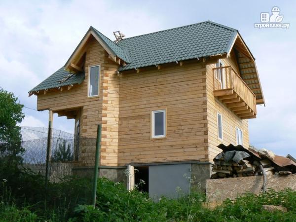 Фото 8: проект дом из бруса 7.5 на 7.5, с балконом