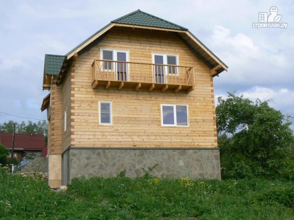 Фото 9: проект дом из бруса 7.5 на 7.5, с балконом