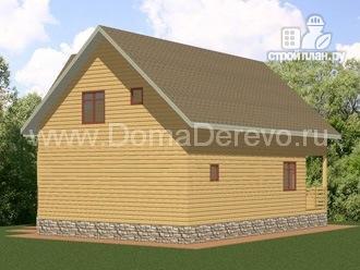 Фото 3: проект дом из бруса 7.5 на 11.5, с парной