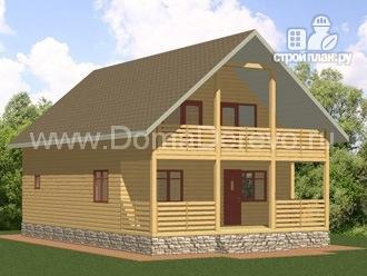 Фото 4: проект дом из бруса 7.5 на 11.5, с парной