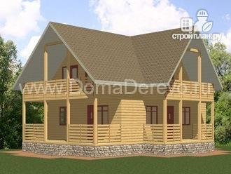 Фото: проект дом из бруса 7.5 на 11.5, с парной