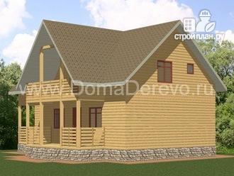 Фото 2: проект дом из бруса 7.5 на 11.5, с парной