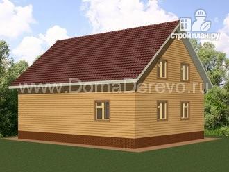 Фото 4: проект дом из бруса 9 на 11, с террасой и парной