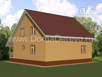 Фото 3: проект дом из бруса 9 на 11, с террасой и парной