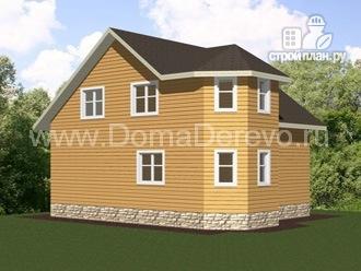 Фото 4: проект дом из бруса 7 на 8, с террасой