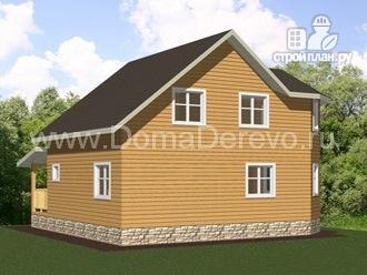 Фото 3: проект дом из бруса 7 на 8, с террасой