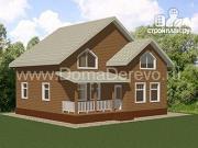 Фото: дом из бруса 9.5 на 10.5, с террасой