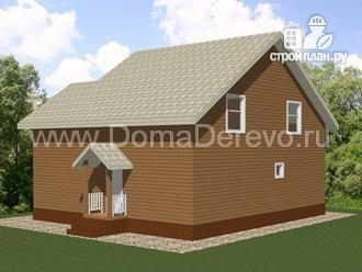 Фото 3: проект дом из бруса 9.5 на 10.5, с террасой