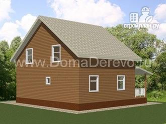 Фото 4: проект дом из бруса 9.5 на 10.5, с террасой