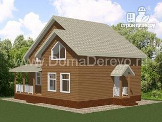 Фото 2: проект дом из бруса 9.5 на 10.5, с террасой