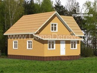 Фото 2: проект дом из бруса 10 на 11, с верандой