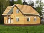 Фото: дом из бруса 10 на 11, с верандой
