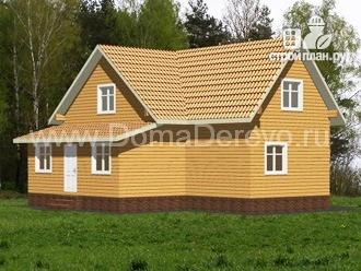 Фото 3: проект дом из бруса 10 на 11, с верандой