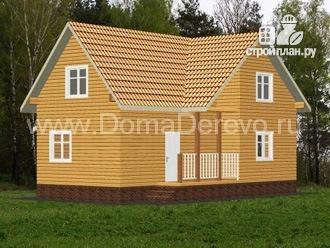 Фото 4: проект дом из бруса 10 на 11, с верандой