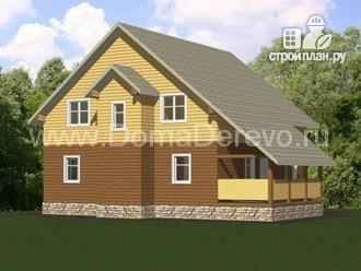 Фото 4: проект дом из бруса 9 на 12, с террасой