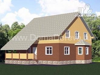 Фото: проект дом из бруса 9 на 12, с террасой