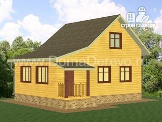 Фото: проект дом из бруса 6 на 8.5, с верандой