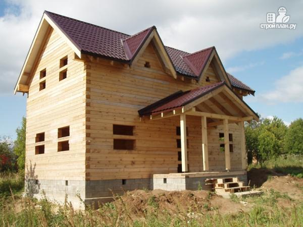 Фото 7: проект дом из бруса 6 на 10, с крыльцом