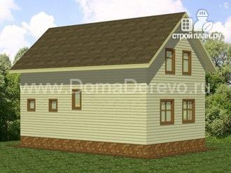 Фото 4: проект дом из бруса 6 на 10, с крыльцом