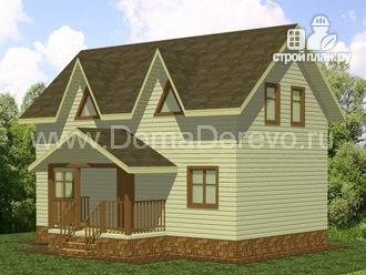 Фото 2: проект дом из бруса 6 на 10, с крыльцом