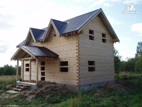 Фото 8: проект дом из бруса 6 на 10, с крыльцом