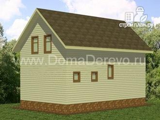 Фото 3: проект дом из бруса 6 на 10, с крыльцом