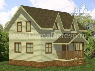 Фото: проект дом из бруса 6 на 10, с крыльцом