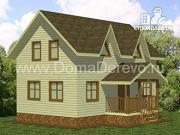 Проект дом из бруса 6 на 10, с крыльцом