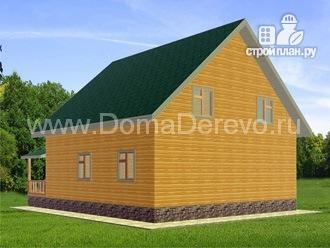 Фото 3: проект дом из бруса 10 на 12.5, с террасой