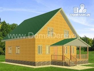 Фото: проект дом из бруса 10 на 12.5, с террасой