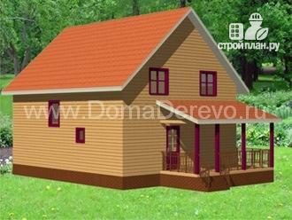 Фото 4: проект дом из бруса 10 на 12.5, с террасой