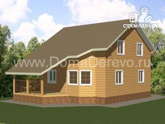 Фото 2: проект дом из бруса 9 на 14.5, с террассой