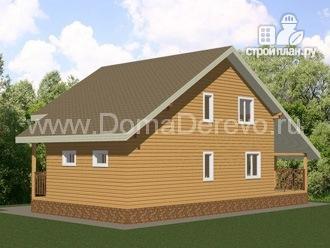 Фото 4: проект дом из бруса 9 на 14.5, с террассой
