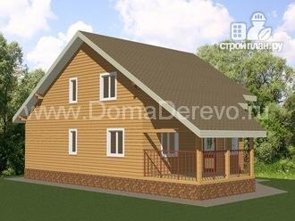 Фото 5: проект дом из бруса 9 на 14.5, с террассой
