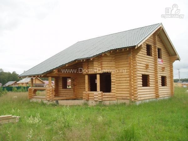 Фото: проект дом из бруса 9 на 14.5, с террассой