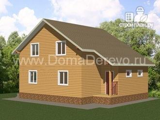 Фото 3: проект дом из бруса 9 на 14.5, с террассой