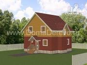 Проект дом из бруса 8,5 на 8,5