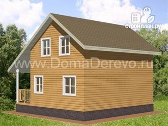 Фото 2: проект дом из бруса 8 на 8,5, с террасой