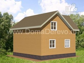 Фото 3: проект дом из бруса 8 на 8,5, с террасой