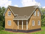 Проект дом из бруса 8 на 8,5, с террасой