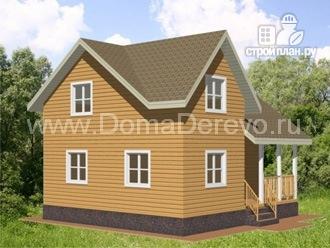 Фото 4: проект дом из бруса 8 на 8,5, с террасой