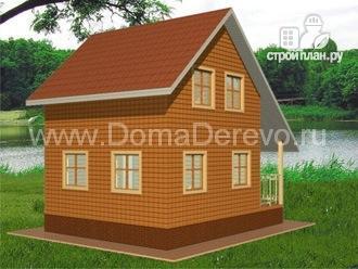 Фото 4: проект дом из бруса 6 на 8, с крыльцом