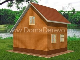 Фото 3: проект дом из бруса 6 на 8, с крыльцом