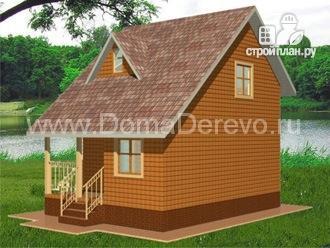 Фото 2: проект дом из бруса 6 на 8, с крыльцом