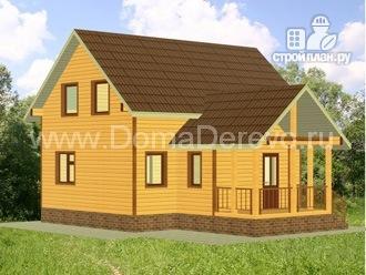 Фото 4: проект дом из бруса 6 на 9, с террасой